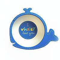 Тарелка из бамбукового волокна Whale