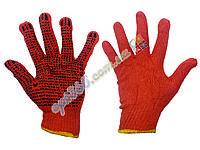 Перчатки рабочие с ПВХ точкой ХБ, 10-O