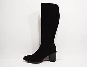 Замшевые сапоги на каблуке Камея 76-01 40 размер, фото 3