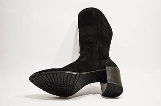 Замшевые сапоги на каблуке Камея 76-01 40 размер, фото 2