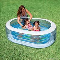 Детский надувной бассейн «Китенок» 57482 NP Intex, 163х107х46 см
