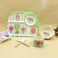 Набор посуды из бамбукового волокна Elephant Balloonist