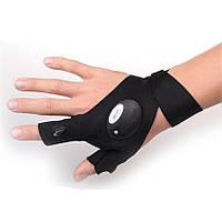 Велосипедная перчатка с LED фонариком! На правую руку!