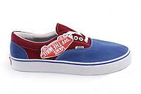 Кеди Vans New Era  -45 Blue Red.