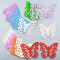 """Декор """"Бабочки"""" бумажные, разноцветные, 9×10 см, 20 шт."""