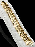 """Широкий позолочений браслет """"Одіссея"""" від студії LadyStyle.Biz, фото 1"""