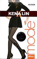 Фантазийные капроновые колготки 30 den Kenalin 85026-R, фото 1