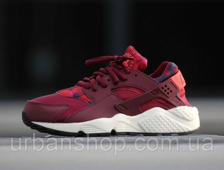 Кроссовки Nike Air Huarache Run Print Deep Garnet р.36-40