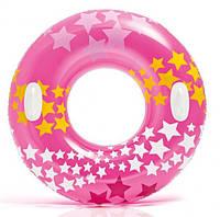 Надувной круг с ручками Intex 59256 3 цвета