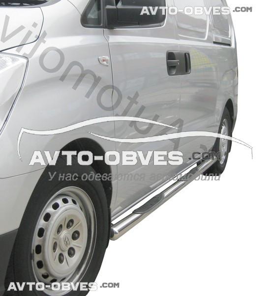 Штатные подножки трубы для Hyundai H1 2008-...