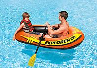 Полутораместная надувная лодка Explorer 200 Intex 58331