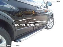 Подножки боковые площадки для Chevrolet Captiva (стиль Porsche Cayenne)