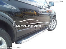 Подножки боковые площадки для Chevrolet Captiva II FL 2012-2018 (стиль Porsche Cayenne)