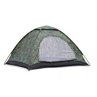 Палатка туристическая двухместная хаки Shengyuan 002: 2х1,5х1,1 м
