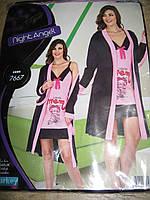 Домашние комплекты Night Angel Халат и рубашка Вискоза