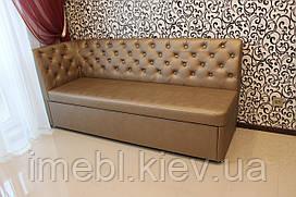 Кухонный уголок со спальным местом в кож заме бронзового цвета