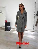 Пальто в английском стиле из варёной шерсти