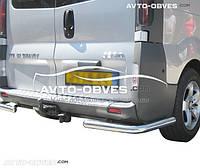 Защита заднего бампера Opel Vivaro, углы одинарные
