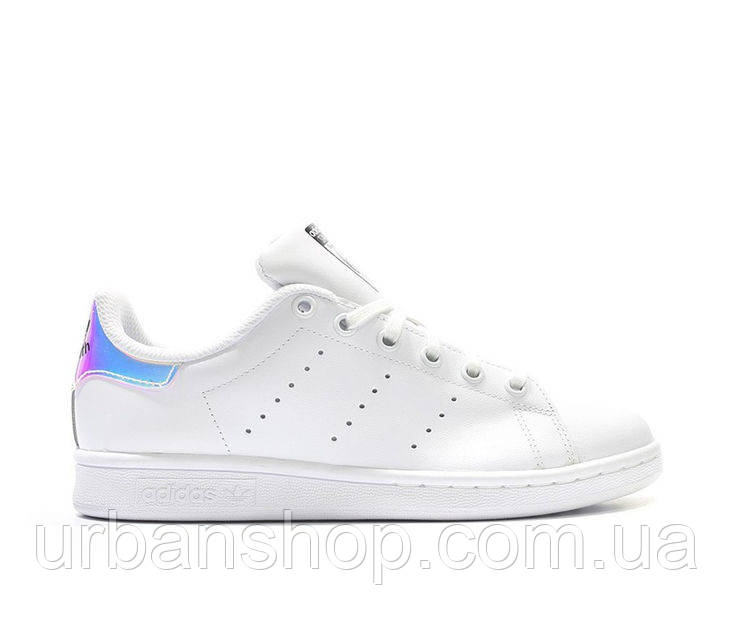 Кроссовки Adidas Stan Smith White Metallic Silver (нат.кожа) р.37-40