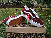 Зимние кеды VANS Old Skool bordo р.36-45