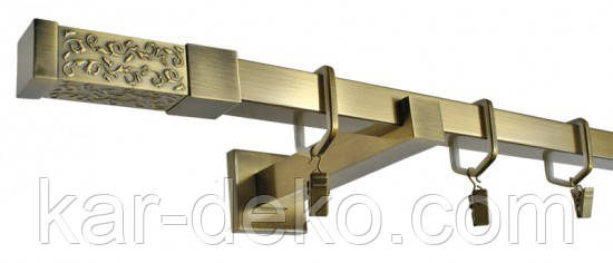 фото Квадратный карниз металлический 1
