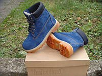 Ботинки Timberland blue ,в наличии, с нат. мехом,р.36-40