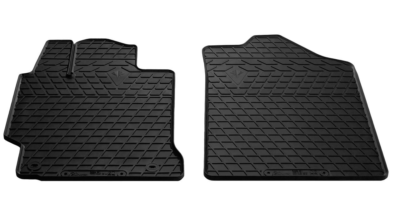 Коврики в салон резиновые передние для Toyota Camry XV50 2011-2017 Stingray (2шт)