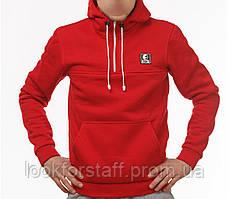 Толстовка с карманом кенгуру мужская Ястреб красная
