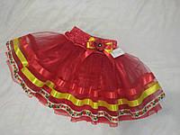 Спідничка червона дитяча в українському стилі. Пошив в будь-якому розмірі.