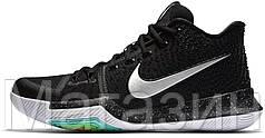 Мужские кроссовки Nike Kyrie 3  Black Ice Баскетбольные Найк Кайри Ирвинг черные