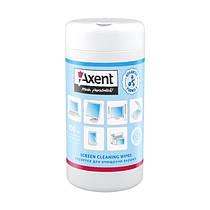 Салфетки для экранов Axent 5312 влажные, 100шт.