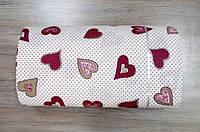 Ткань ранфорс Турция Love is V-1 розовый 4072 (220 ширина)