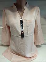Женская шифоновая блуза с длинным рукавом  р. S,M,L,XL,XXL