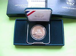 США 1 доллар 1997 г. 165 летие Ботанического сада. Пруф.