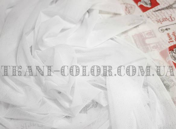 Ткань сетка стрейч белая, фото 2