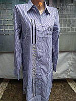 Женская рубашка-платье с длинным рукавом  р. L,XL,XXL,XXXL,XXXXL