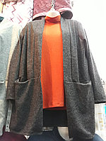 Женская кофта кардиган больших размеров