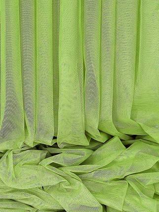 Французкий гипюр Салатовый, готовая тюль 3м, фото 2