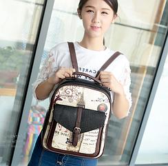 Рюкзак женский с рисунком и надписями