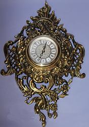 Часы настенные бронзовые Mintal (380х260х70 мм) [Бронза, Под стеклом]