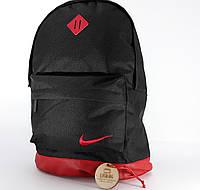 Черно-красный спортивный рюкзак на каждый день Nike копия хорошего качества водоотталкивающий материал Унисекс