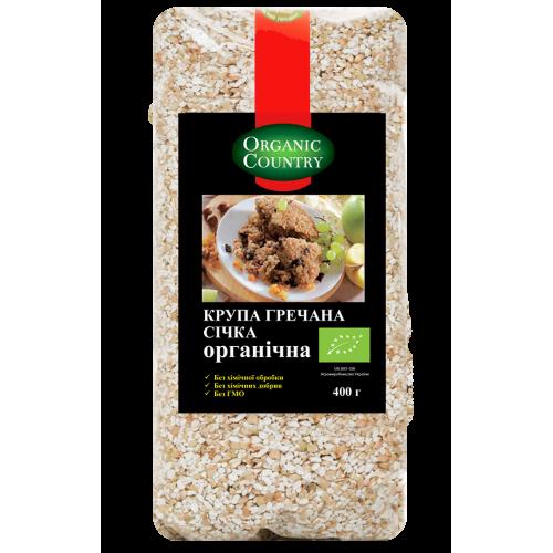 Крупа гречневая сечка органическая, Украина, 400 г, ORGANIC COUNTRY