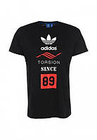 Мужская спортивная футболка с принтом адидас,Adidas