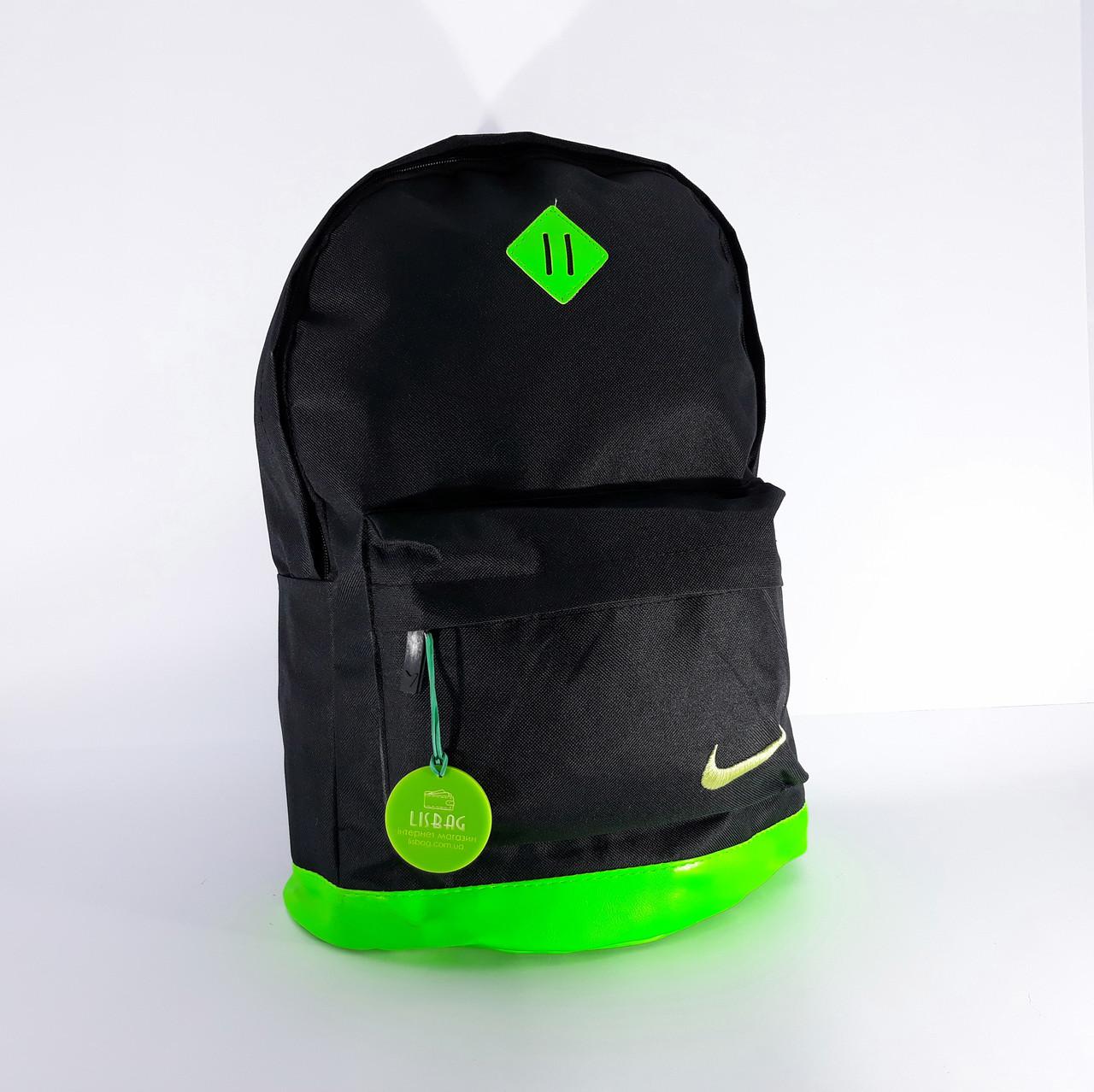 fbd877d503f3 Черно-зеленый спортивный рюкзак на каждый день Nike копия хорошего качества  водоотталкивающий материал Унисекс