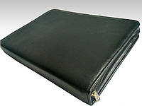 Папка для документов кожаная 7101, иск.кожа., черн