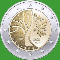 Естонія 2 євро 2017 р. Дорога Естонії до незалежності . UNC