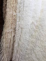 Покрывало меховое  травка 160х200 цвет молочный