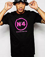 Модная мужская футболка с принтом черная