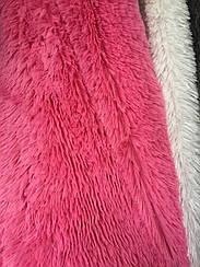 Покрывало меховое травка 160х200 цвет розовый