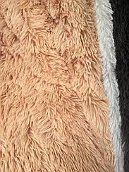 Покрывало меховое травка  160х200 цвет персиковий